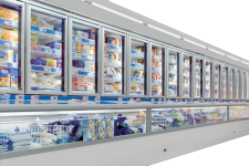 Combined refrigerated showcases