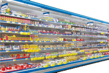 Refrigerated shelves (vertical refrigerated showcases)